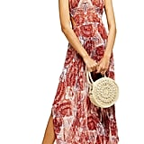 Topshop Paisley Print Cover-Up Chiffon Maxi Dress