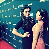 Sarah Hyland and Hailee Steinfeld struck some serious poses on the red carpet. Source: Instagram user mattpro13