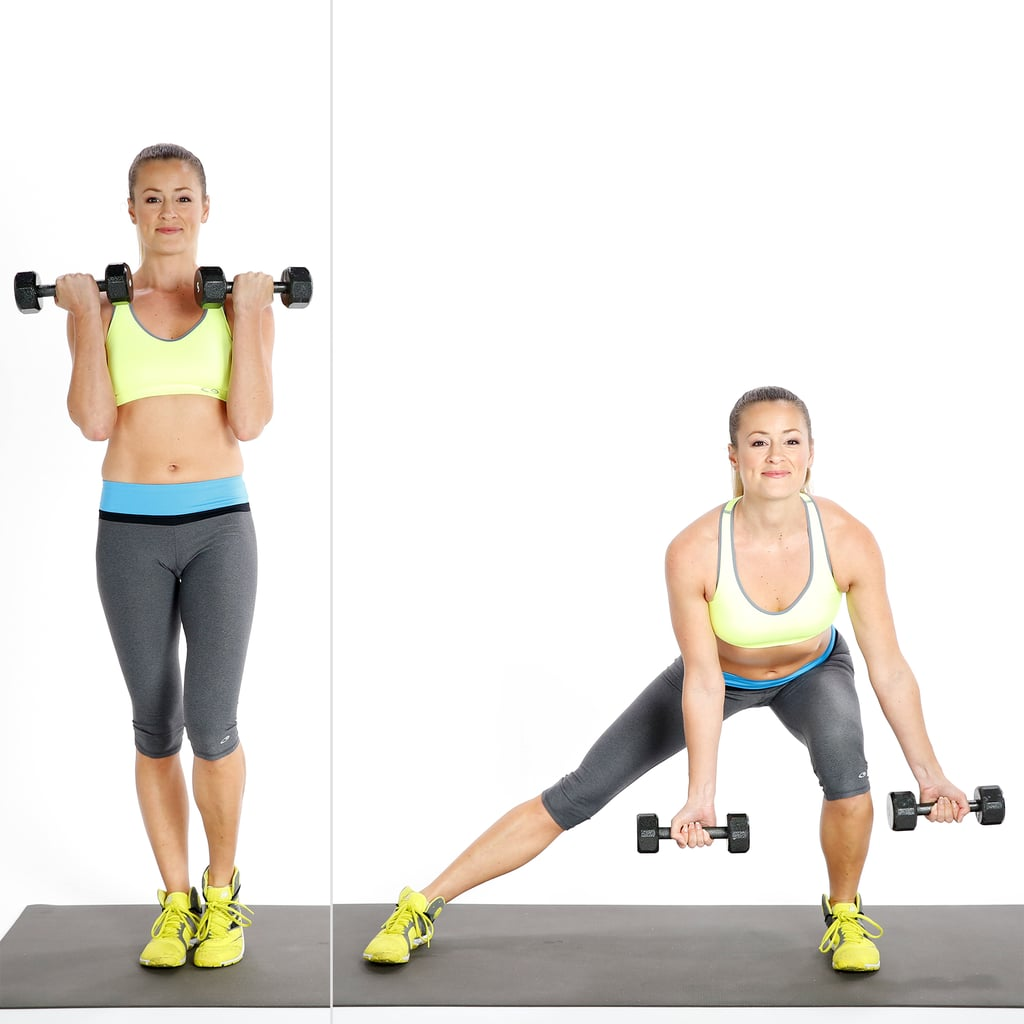 Side Lunge With Biceps Curl