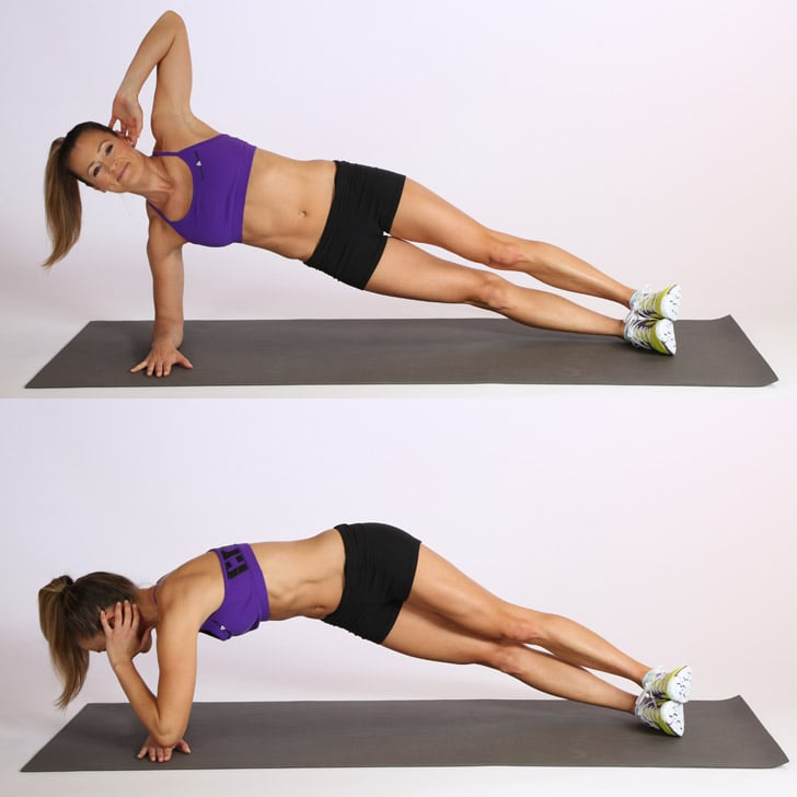 Elbow Plank With a Twist