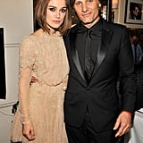 Keira Knightley poses with Viggo Mortensen.