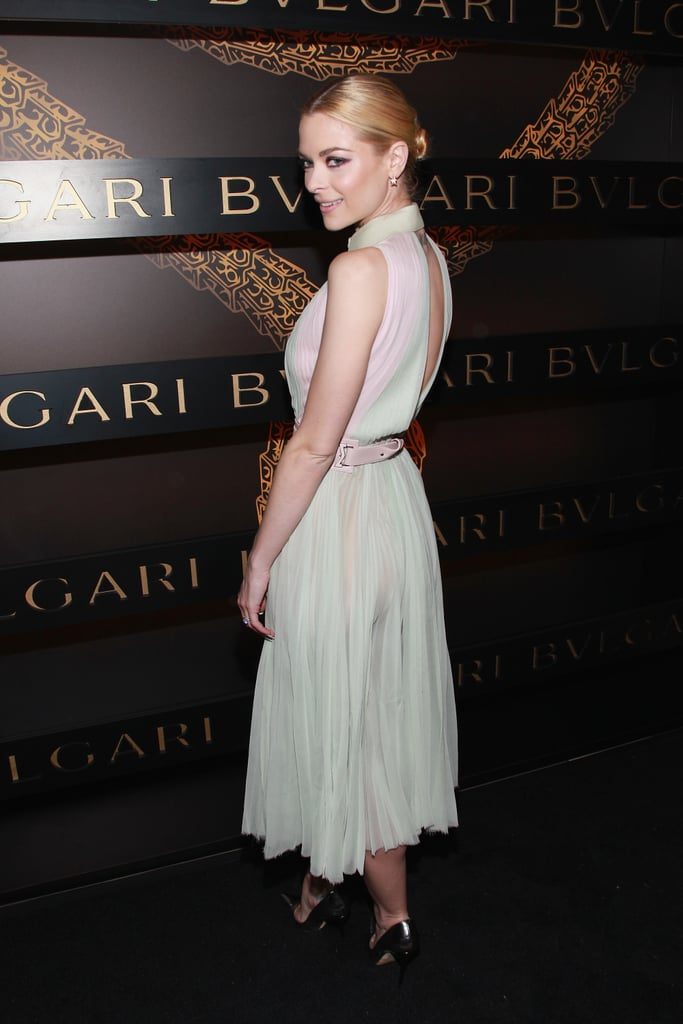 Jaime King posed pretty at Bulgari's Fashion Week afterparty in NYC in February.