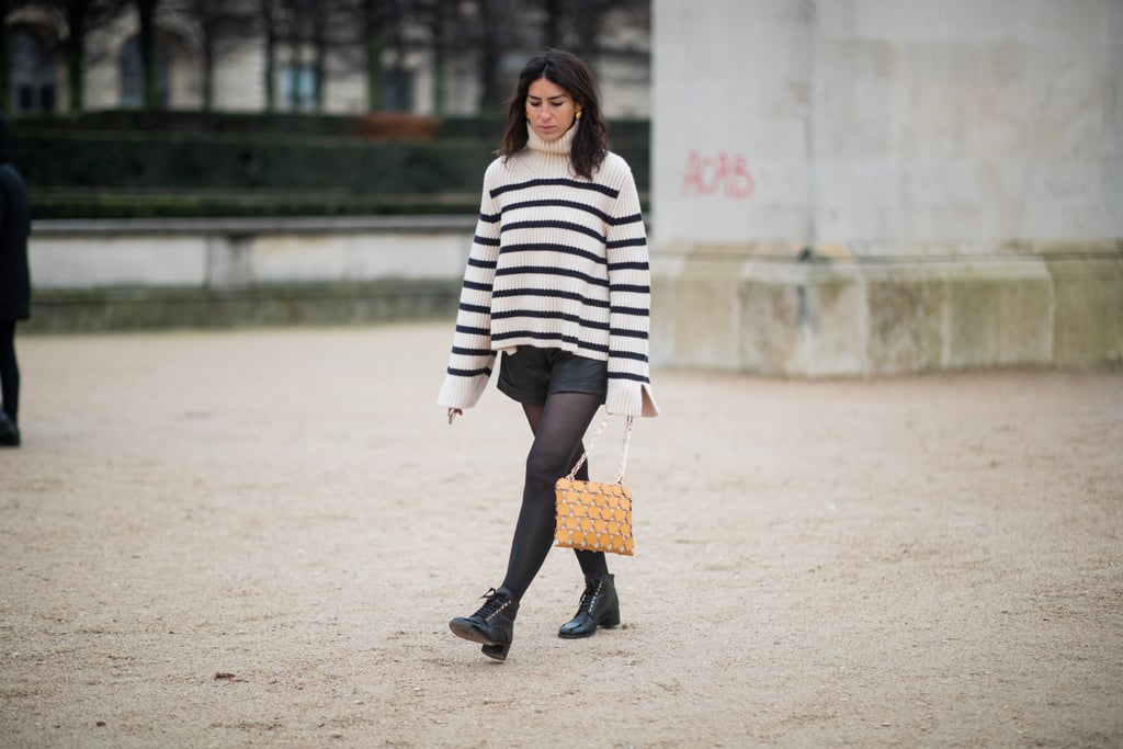 With a Classic Striped Top