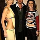 Celine Dion, Bono, and Shania Twain got together for a backstage photo op in December 2003.
