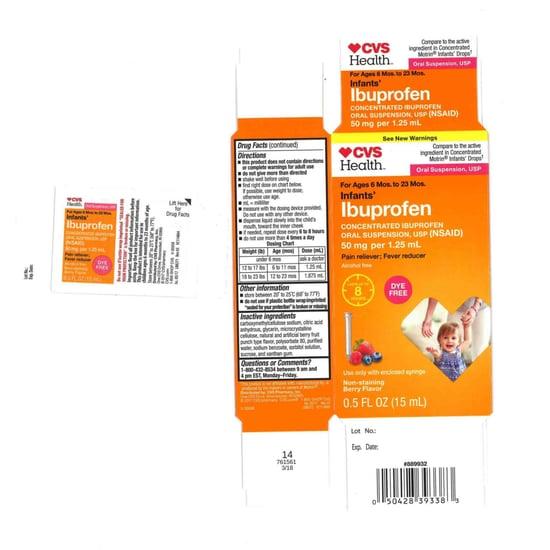 Baby Ibuprofen From Walmart, CVS, Family Dollar Recalled