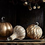 Rustic Leaf Glass Pumpkin Candle Holder