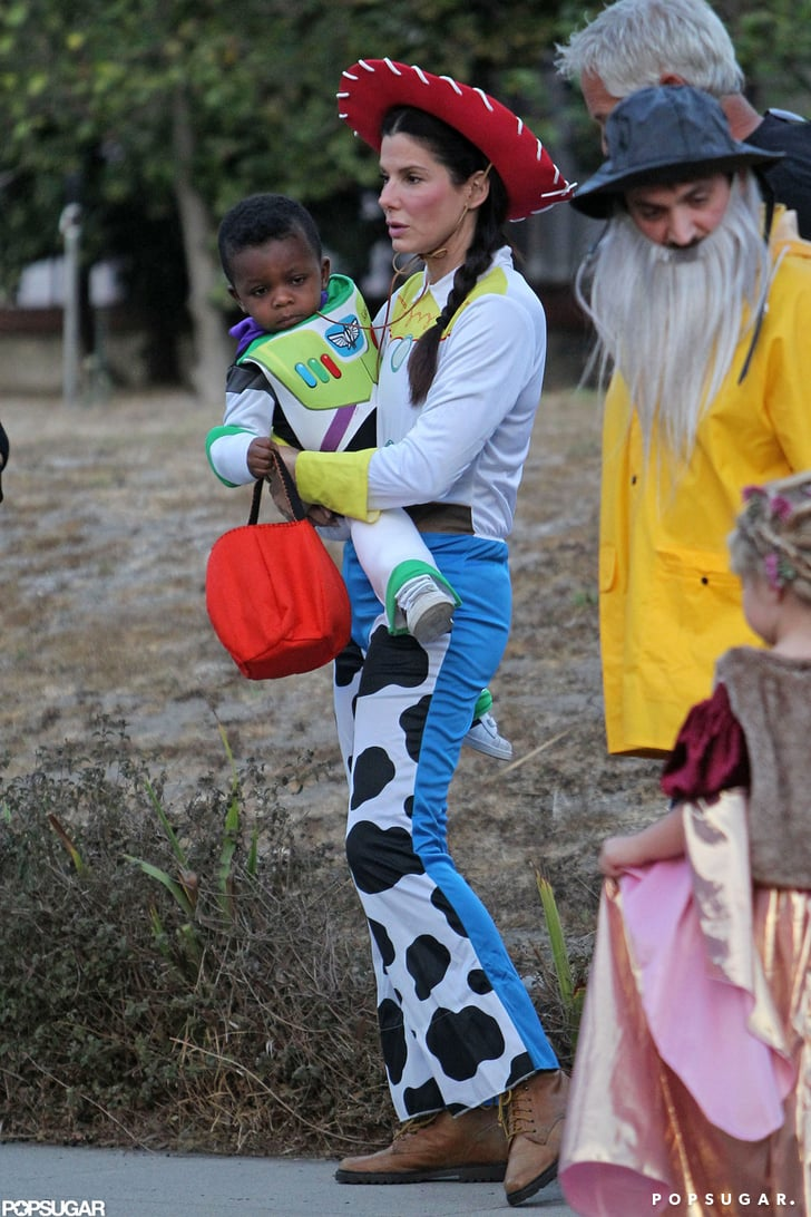 Sandra and Louis Bullock in Toy Story Costumes | Pictures ...