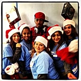 Nick Cannon got in the spirit with Walmart employees.  Source: Instagram user nickcannongram