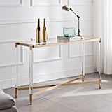 Modern Acrylic & Gold Console Table