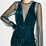 Endless Rose Meshed Contrast Ruched Dress