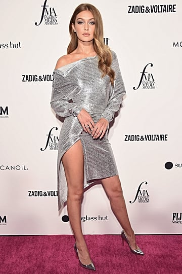 Gigi Hadid's Silver Dress at the Daily Front Row Awards