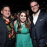 Jonah Hill and Beanie Feldstein at the Premiere of Neighbours 2: Sorority Rising in 2016
