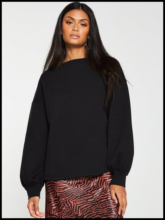 V by Very Oversized Raw Hem Sweater