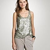 Because sequins do work for Spring, as long as you do them in a light, easy fit and color; this one's perfect.  J.Crew Matte Sequin Cami ($128)