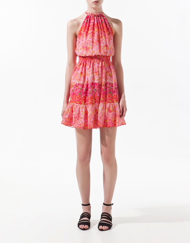 Ankle-strap sandals will pair perfectly with this subtly sexy option.