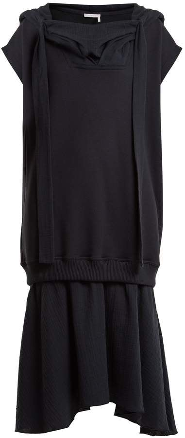 443554539b90 See by Chloé Hooded Cotton-Jersey Midi Dress