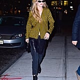 Gigi Hadid Yellow Button Down Shirt