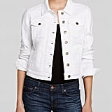 Guess Denim Jacket Classic Cropped White ($128)