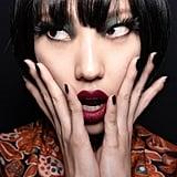 Anna Sui's Bold Black Nails at NYFW Autumn 2020