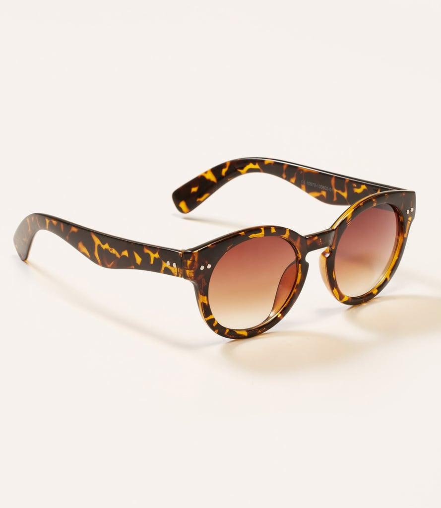 Loft Tortoiseshell Round Keyhole Sunglasses