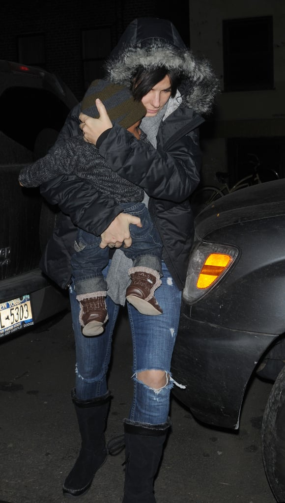 Sandra Bullock Steps Out With Her Main Man Louis