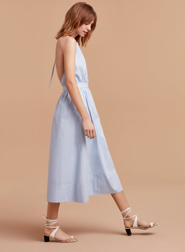 While you might need to steam this one out once you've reached your location, linen is a lightweight fabric that belongs on the beach at sunrise. Shop Wilfred's Laudine Dress at Aritzia ($135).
