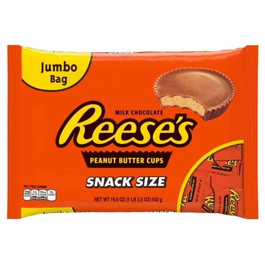 Snack Size Reese's Peanut Butter Cups, Jumbo Bag