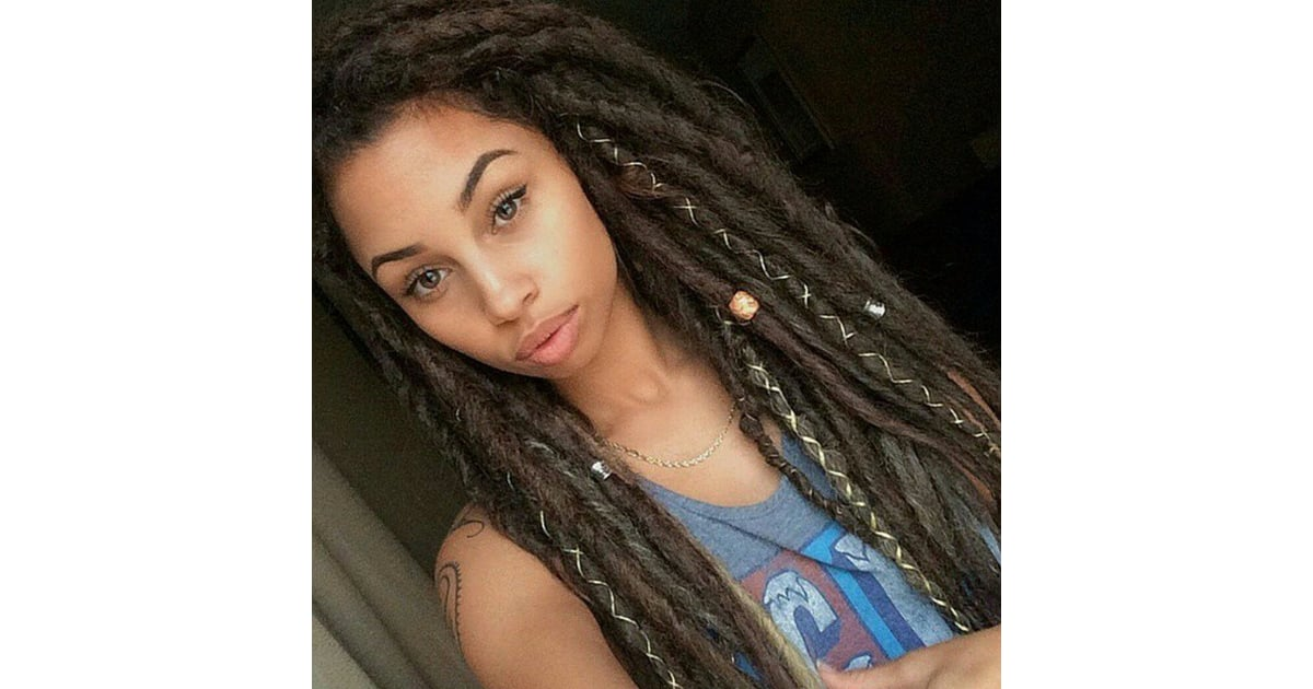Tied With String Dreadlock Hairstyles Popsugar Beauty