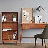 Amherst Midcentury Modern 3-Shelf Bookcase