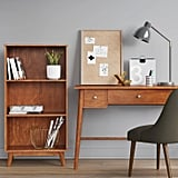 Amherst Midcentury Modern Three Shelf Bookcase