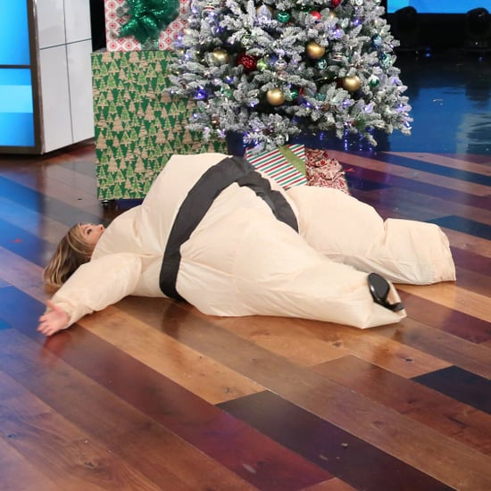 Jennifer Aniston in a Sumo Suit on The Ellen DeGeneres Show