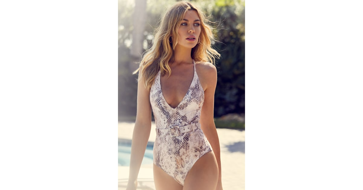 dd62d0767b Abbey Clancy x Lipsy Snake Print Belted Swimsuit | Best Belted Swimsuits |  POPSUGAR Fashion UK Photo 27