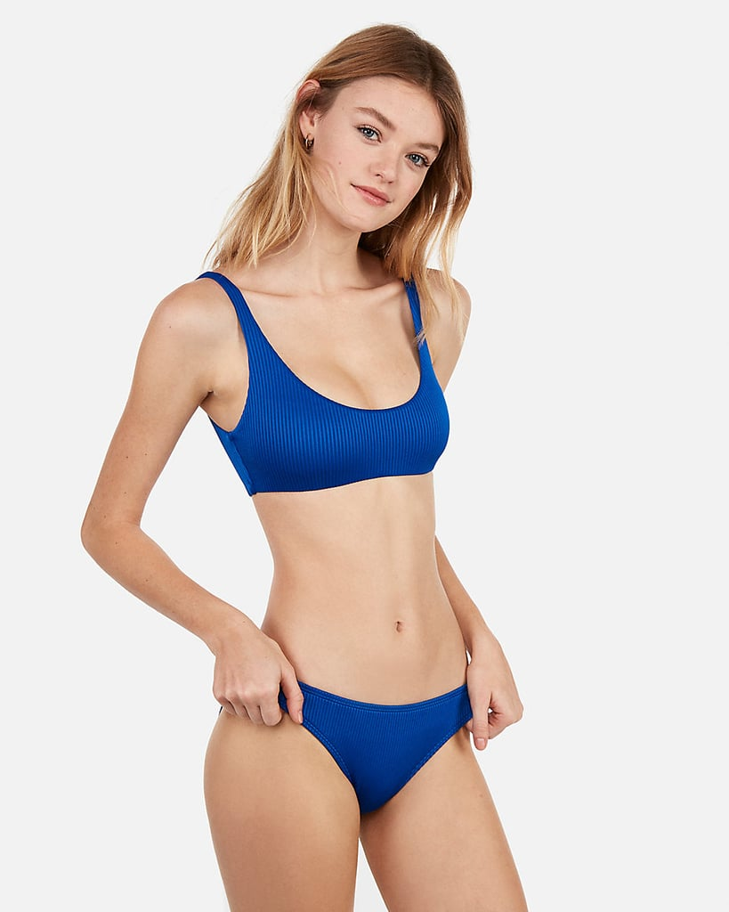 c9e6f04fa4bde Express Ribbed Scoop Bikini Top and Low Rise Ribbed Bikini Bottoms ...