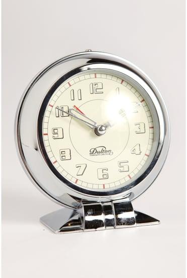 Chrome Table Clock ($28)