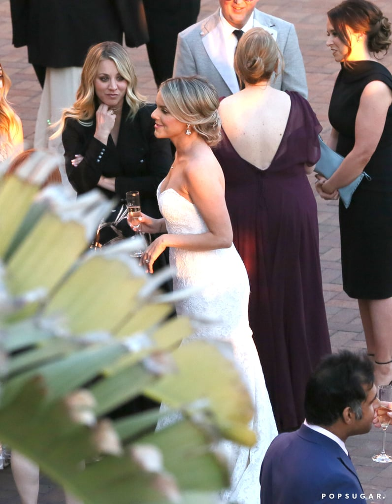 "Ali Fedotowsky and radio host Kevin Manno exchanged ""I dos"" in a beautiful beach wedding at LA's Terranea Resort in March. The former Bachelorette star looked like an absolute dream in a strapless lace Alvina Valenta gown, while Kevin donned a black tux. The couple wed in front of 100 of their closest friends and family, including Kaley Cuoco, Haylie Duff, Lacey Chabert, Amy Davidson, and fellow Bachelorette Andi Dorfman. Their nearly-8-month-old daughter, Molly, served as the flower girl during the ceremony and was pulled down the aisle in a vintage wagon. ""The vibe was classic and romantic,"" event producer Leila Lewis told Us Weekly. ""Ali wanted something that she can look back on 10 years down the road and it's still elegant."" After the ceremony, Ali gushed over her nuptials to the publication, saying, ""Throughout my life, I've always imagined what my wedding day would be like. Today has been far better than anything I could have dreamt up. Kevin is the one true love of my life, and I feel insanely lucky to call him my husband. I am honored to be Mrs. Manno."" Ali and Kevin got engaged in September 2015 and welcomed their first child in July 2016."