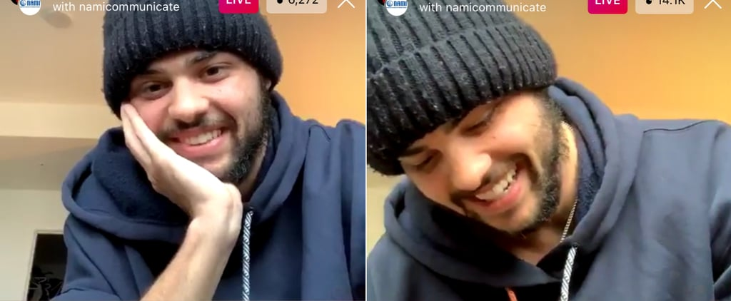 Noah Centineo Shared His Self-Care Routine on Instagram Live