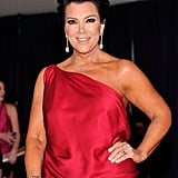 Kris Jenner wore reed to the White House Correspondant's Dinner.