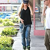 Gwen Stefani went with a casual look for her Monday errands in LA.