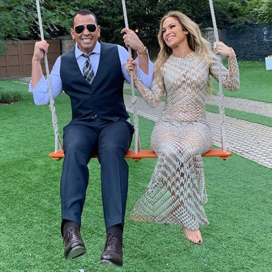 Jennifer Lopez Sheer Dress on Swing With Alex Rodriguez