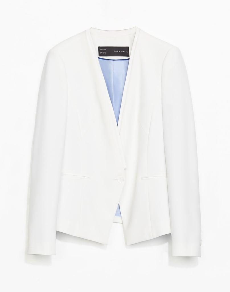 Zara white blazer ($100)