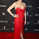 House of Cards's Kristen Connolly dazzled in red.