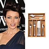 Dannii Minogue Uses a Cutlery Tray to Organise Makeup
