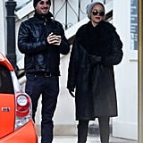 Jennifer Lawrence and Darren Aronofsky in NYC Dec. 2016