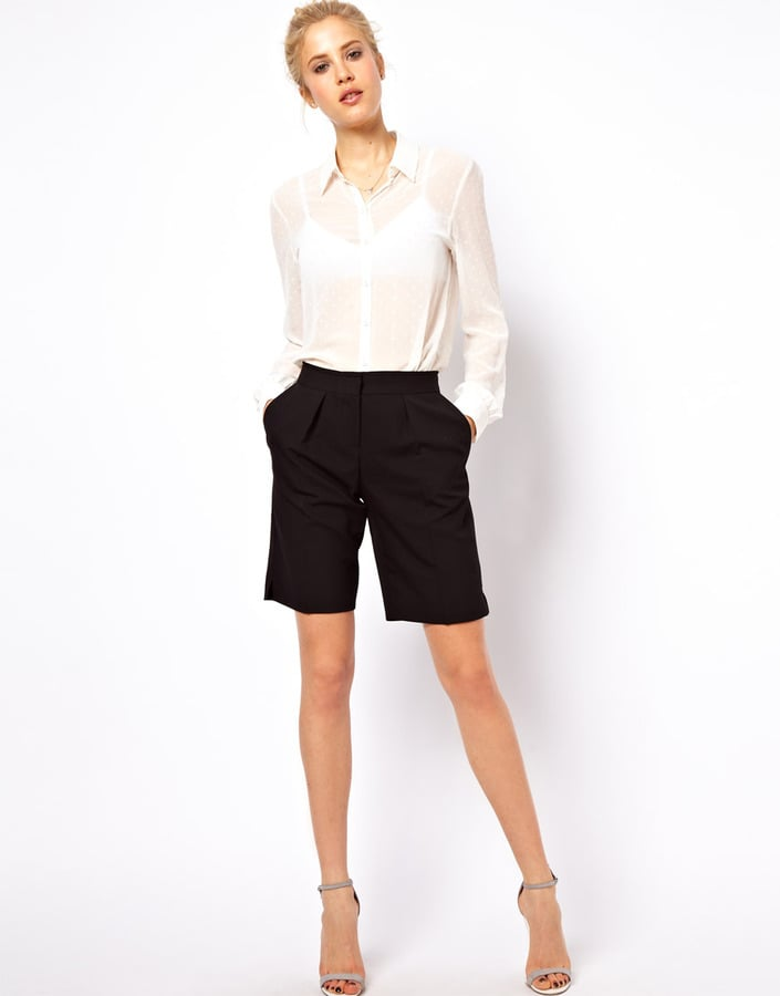 You're looking at the most sophisticated way to wear shorts: these ASOS black city shorts ($37). They would look great at the office, too.