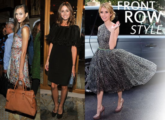 Pictures of Olivia Palermo, Bar Refaeli, Rachel Zoe, Emma Roberts and More at Marchesa Front Row 2012 New York Fashion Week
