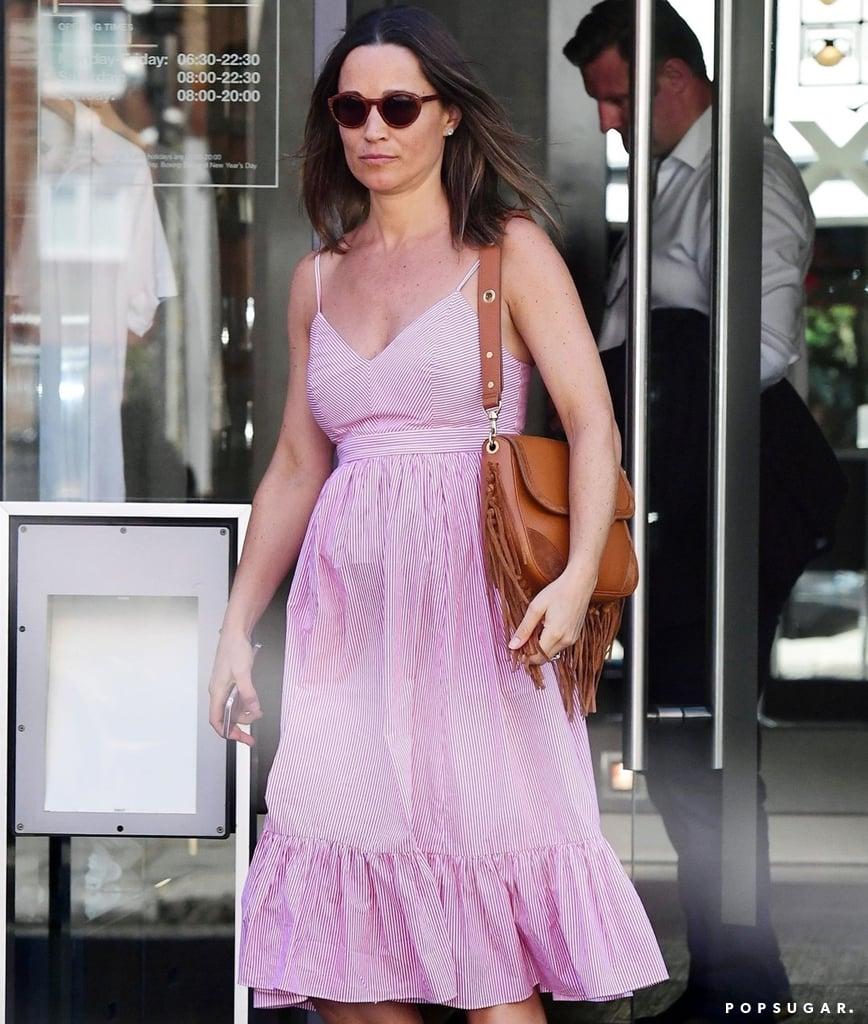 Pippa Middleton Pink Striped J.Crew Dress June 2018