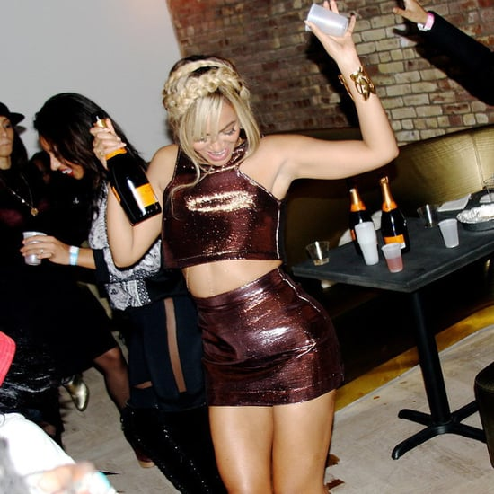 Pictures of Beyonce Knowles Drinking and Dancing