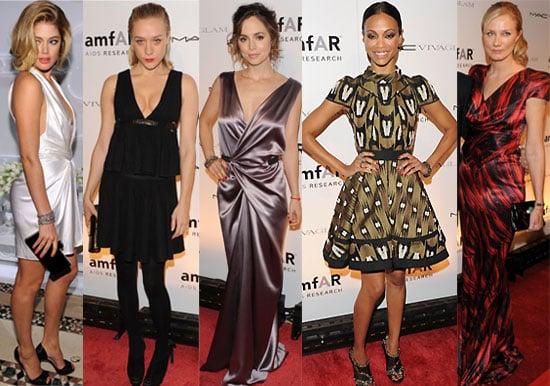 Photos of Celebs from New York Fashion Week amFAR Benefit Gala with Mary-Kate Olsen, Zoe Saldana, Meryl Streep, Chloe Sevigny