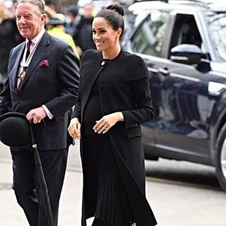 Meghan Markle's Black Givenchy Coat ACU Visit Jan. 2019