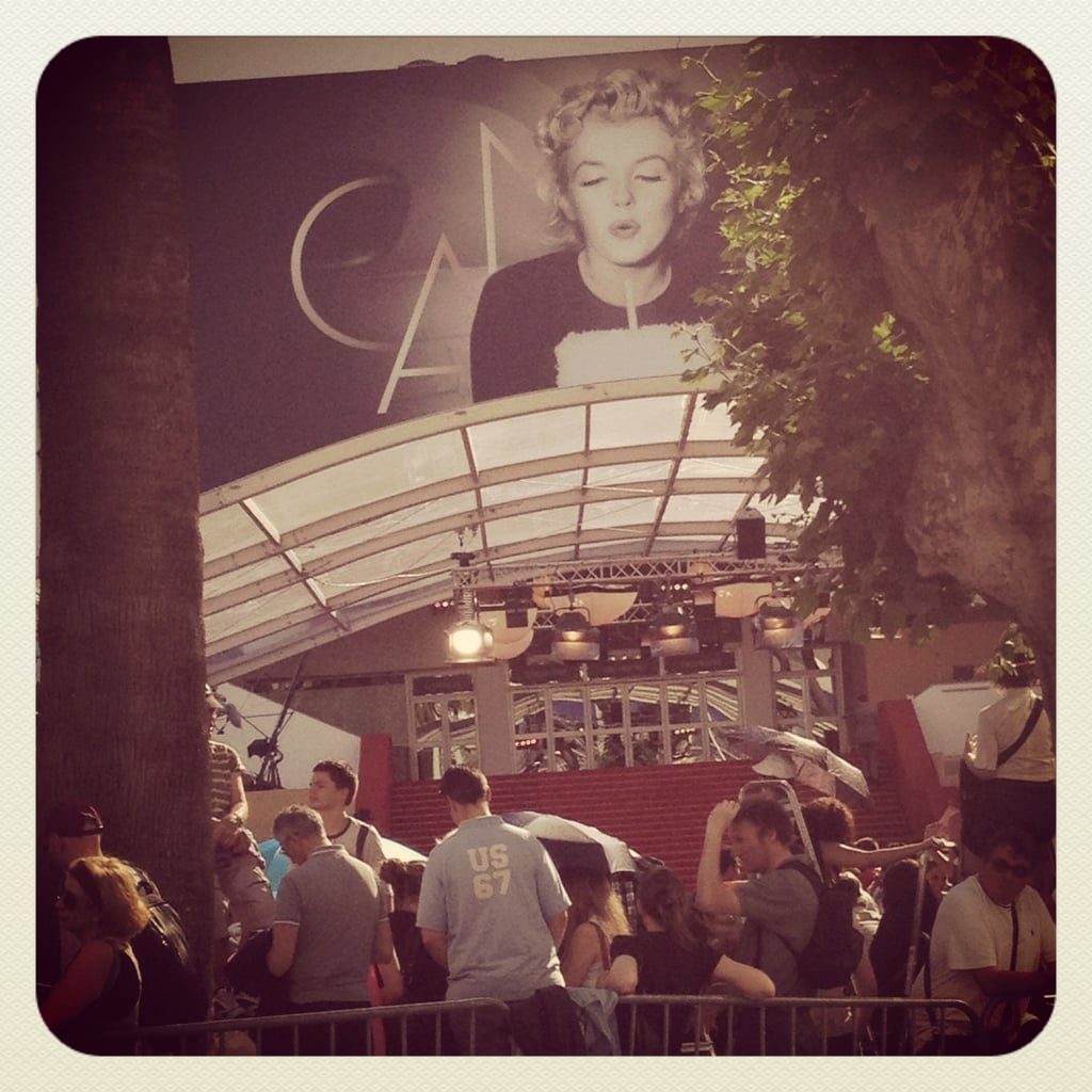 Marilyn Monroe is the face of the 65th Cannes Film Festival, and her image currently adorns the Grand Palais.